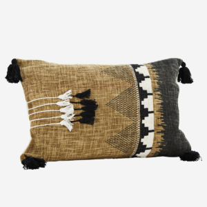 Madam Stoltz Cushion with Print and Tassels