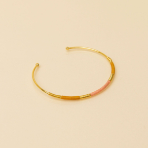 Une A Une Camiri Bracelet (curry & peach)